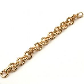 Bracciale a maxi catena effetto corda, oro - 15.57 gr. 21 cm x 1.1 cm
