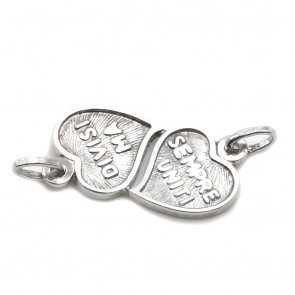 Ciondolo doppio cuore argento