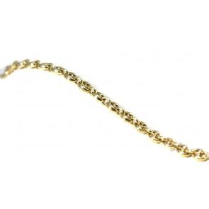 Bracciale uomo catena big maglia marinara argento dorato - 18,5 cm x 0,7 cm; 12,3 gr