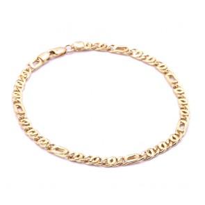 Bracciale uomo oro maglia classica curva