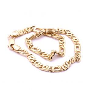 Bracciale uomo oro maglia classica curva - 21 cm; 5.4 gr