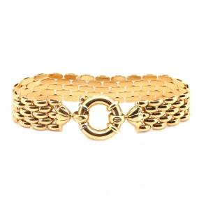 Bracciale catena a fascia larga, oro