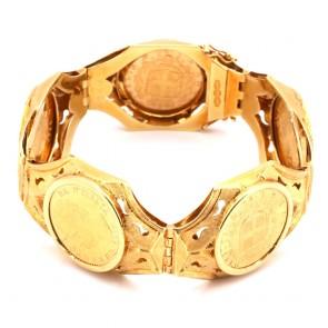 Bracciale in stile 5 marenghi e oro