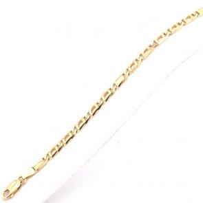Bracciale uomo oro maglia classica curva - 20 cm; 9.64 gr
