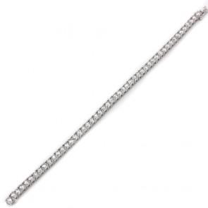 Bracciale tennis capolavoro oro e diamanti 10.36 ct - 20 cm; 21.93 gr.