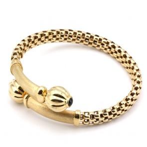 Bracciale rigido incrociato, oro e mini zaffiri cabochon - 0.50 ct-  25 gr.