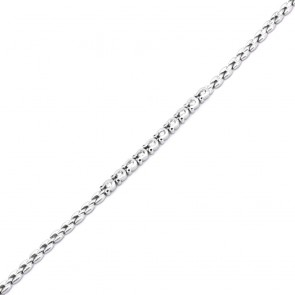 Bracciale catena-tennis oro e diamanti 0.55-0.65 ct - 17.5 cm; 10.9 gr.
