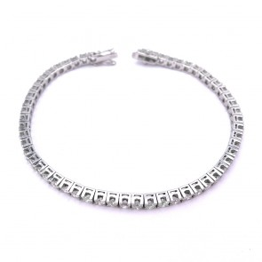 Bracciale tennis oro e diamanti 4.8-5.2 ct - 18.5 cm; 12.09 gr.