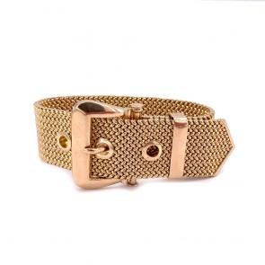 Bracciale cintura catena maglia oro