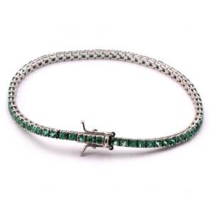 Bracciale tennis oro e smeraldi