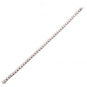 Bracciale tennis oro e diamanti 1.7-2.0 ct - 18 cm; 14.3 gr.