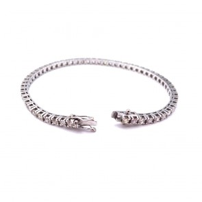 Bracciale tennis oro e diamanti 4.40-4.60 ct - 18.5 cm; 12.12 gr.
