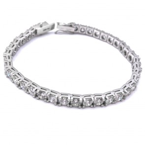 Bracciale tennis oro e diamanti; 11.65 ct - 18 cm; 20.7 gr