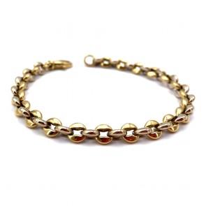 Bracciale catena, bicolore , oro