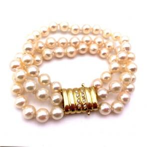 Bracciale 3 fili di perle giapponesi
