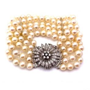 Bracciale da 17.5 cm, 5 fili di perle giapponesi