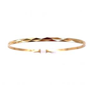 Bracciale bangle a cerchio rigido in oro giallo