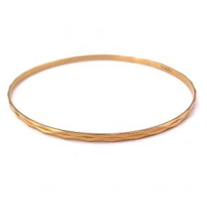 Bracciale bangle a cerchio rigido in oro giallo - 6.94 gr