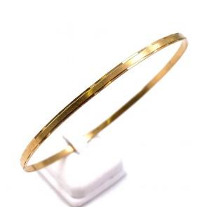 Bracciale bangle a cerchio rigido in oro giallo - 6.29 gr