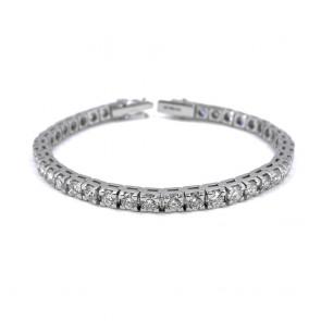 Bracciale tennis oro e diamanti 7.90 ct - 18 cm; 21.68 gr.