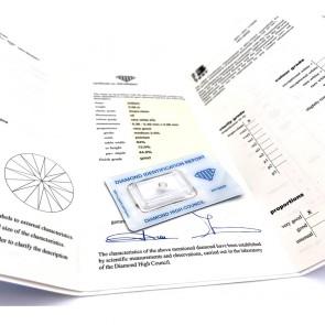 Brillante certificato HRD. ct 0.58; G-IF