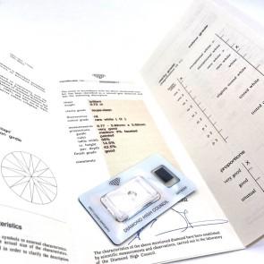 Brillante certificato HRD. ct 0.73; G-IF