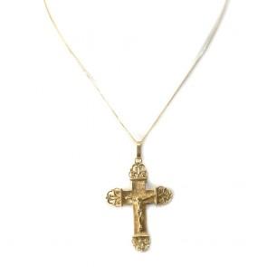Ciondolo croce Cristo oro - 7,5 gr