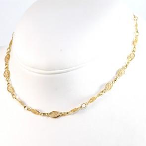 Collana catena maglie filigrana oro - 40 cm; 10,15 gr