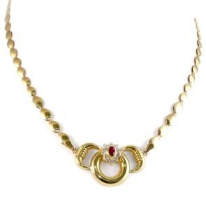 Collana collier catena spole oro