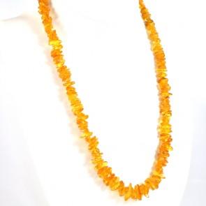 Collana ambra a sassolini irregolari, 5-18 mm - 42.69 gr; 66 cm