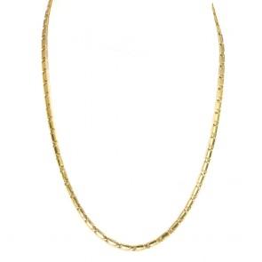 Collana catena uomo oro, maglia classica