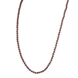 Collana granato e oro - 60 gr; 90 cm