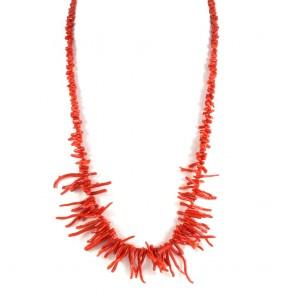 Collana ramage di corallo rosso