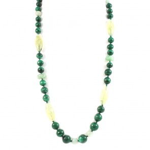 Collana, malachite e prinite