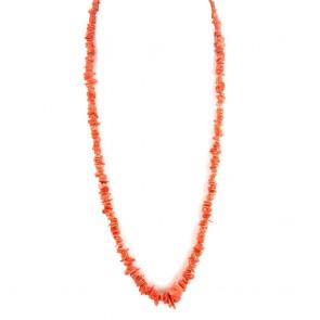 Collana sassolini di corallo rosso a scalare