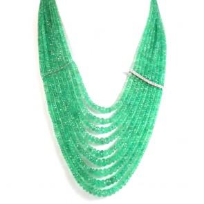 Collana multifilo smeraldo