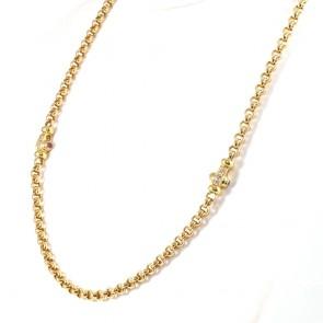 Collana catena rollò oro -  58 cm; 28.18 gr