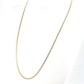 Collana catena uomo oro, maglia marinara piatta - 60 cm; 13 gr