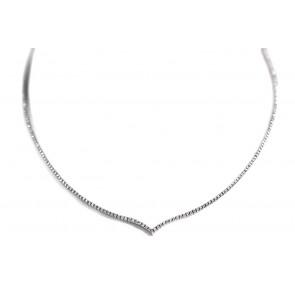Collana girocollo tennis a V oro e diamanti - 1,73 ct