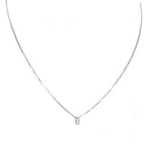Ciondolo punto luce oro e diamante solitario - 0.14 ct