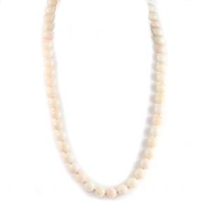Collana lunga, a 1 filo di corallo rosa
