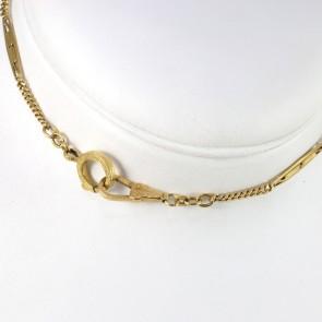 Collana losanghe vintage catena da orologio oro - 50 cm; 8 gr