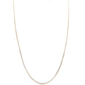 Collana lunga micro grumette  argento dorato