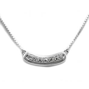Collana collier oro con inserto centrale di diamanti