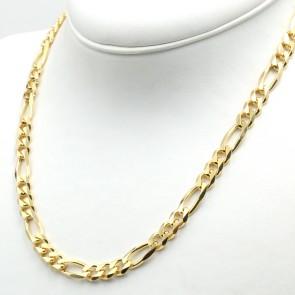 Collana uomo catena maglia 3+1 maxi argento dorato - 50 cm x 0.7 cm; 41.3 gr