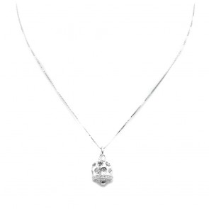 Ciondolo campanella in argento bianco - 2.2 cm; 2 gr