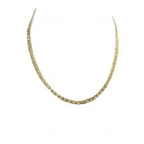 Collana uomo catena maglia marinara piatta argento dorato