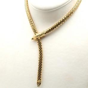 Collana serpente catena semirigida oro -  50 cm; 44.41 gr