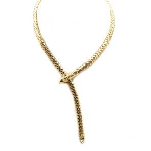 Collana serpente catena semirigida oro