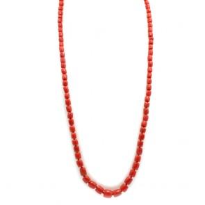 Collana di corallo rosso moro